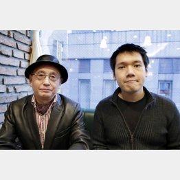神田松之丞(右)と吉川潮氏/(C)日刊ゲンダイ
