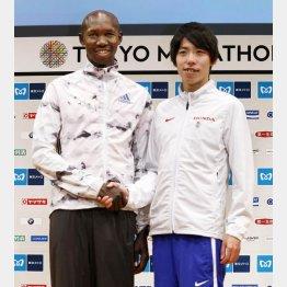 キプサング(左)と設楽悠太/(C)共同通信社