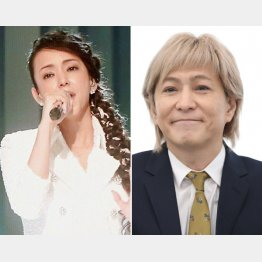 大みそかの紅白で熱唱する安室奈美恵と引退発表した小室哲哉(C)日刊ゲンダイ