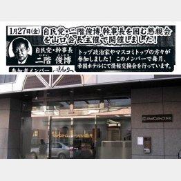 問題の宣伝チラシ(下はジャパンライフ本社)/(C)日刊ゲンダイ