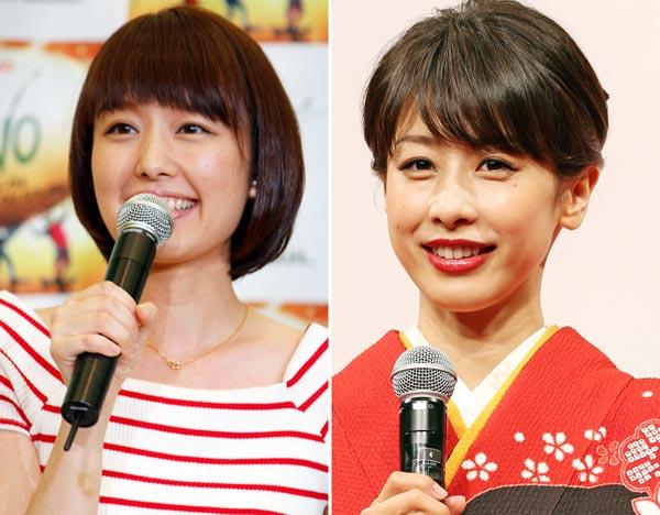 現在フリーで活躍中の中村仁美アナ(左)と加藤綾子アナ/(C)日刊ゲンダイ