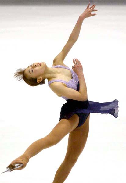 2002年ソルトレーク五輪、村主の演技(C)日刊ゲンダイ