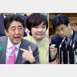 やましい夫婦(右は佐川国税庁長官)/(C)日刊ゲンダイ