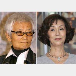 野際陽子(右)と緒形拳/(C)日刊ゲンダイ