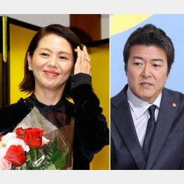 既婚者である豊原功補(右)との交際を認めた小泉今日子(C)日刊ゲンダイ