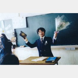 教師時代の尾木直樹氏(提供写真)