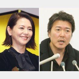 豊原功補(右)との恋愛関係を告白した小泉今日子/(C)日刊ゲンダイ