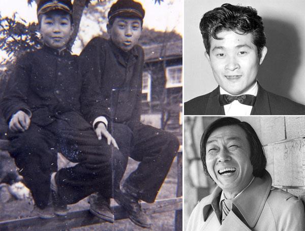 麻布時代の倉本氏(右=F.C.S.提供)、右写真はフランキー堺(上)と小沢昭一/(C)共同通信社