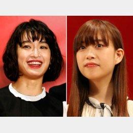 門脇麦(左)と森川葵(C)日刊ゲンダイ