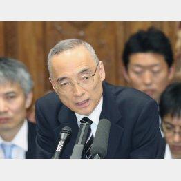 答弁する太田理財局長(C)日刊ゲンダイ