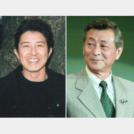 故・川地民夫さん(右)は「親父みたいな存在だった」/(C)日刊ゲンダイ
