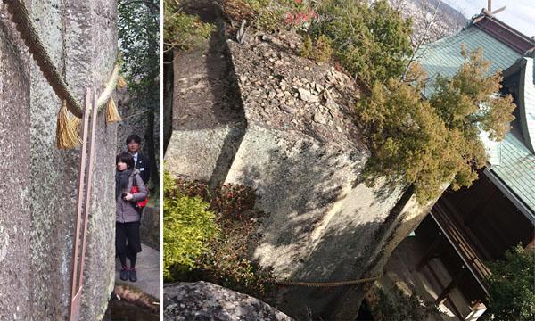 「石乃寳殿」ー左写真は横から、上から見るとブラウン管/(C)日刊ゲンダイ