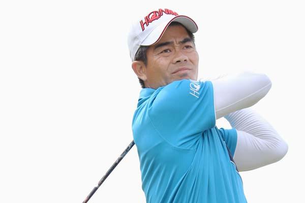 梁津萬選手は中国を代表するプロゴルファー(C)共同通信社