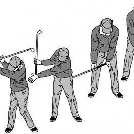 左右の腕の長さを変えること意識するとトップが決まる