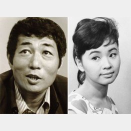 本当に恋人だった寺山修司と女優の九條映子(C)共同通信社
