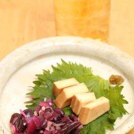 【シバ漬けと茗荷のゴマ油和え・チーズの煮切り醤油づけ】
