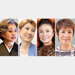 左から加賀まりこ、水前寺清子、小柳ルミ子、今陽子(C)日刊ゲンダイ