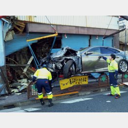 被害に遭った金物店はメチャクチャだった(提供写真)