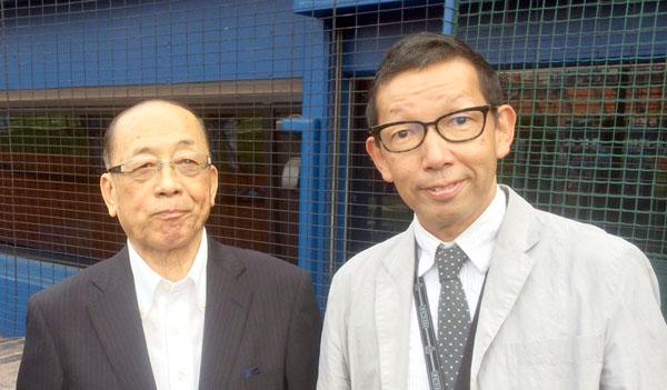 師匠で恩人の深沢アナ(左)/(提供写真)