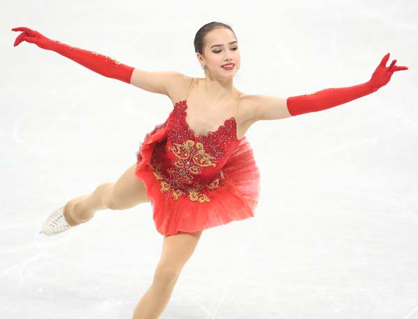 金メダル候補のアリーナ・ザギトワ(C)JMPA