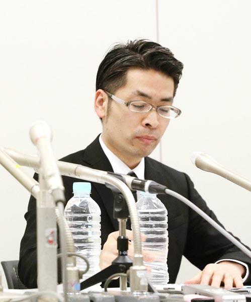 コインチェック社取締役の大塚雄介氏(C)共同通信社