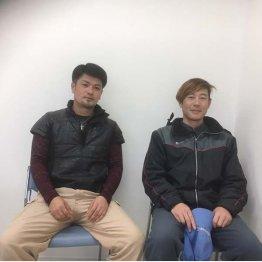 葉たばこ栽培はやりがいがあると語る2人(村上さんと野田さん)(C)日刊ゲンダイ