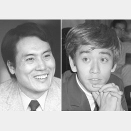 そのころの平幹二朗(左)と石坂浩二/(C)共同通信社