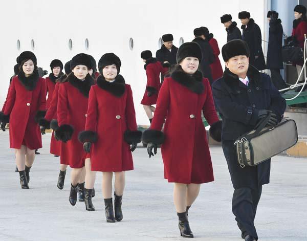 北朝鮮の三池淵管弦楽団が宿泊しているホテルでも?(C)共同通信社