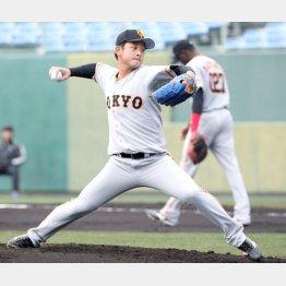 存在感を見せる谷岡(C)日刊ゲンダイ