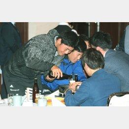 キャンプ夕食会には出席した清宮(C)日刊ゲンダイ