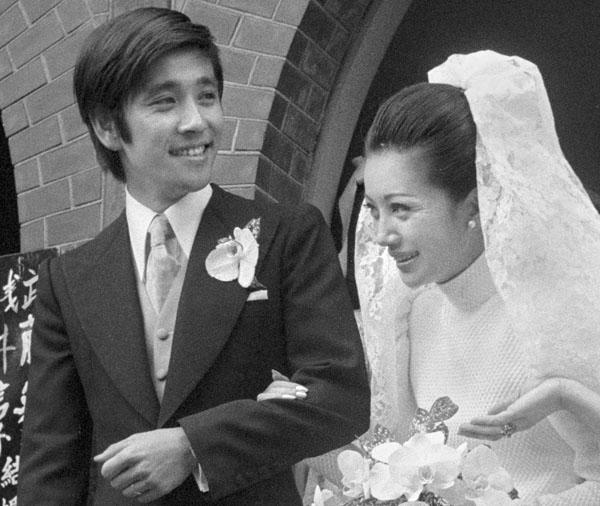 「2丁目3番地」での共演を機に結婚した石坂浩二と浅丘ルリ子/(C)共同通信社