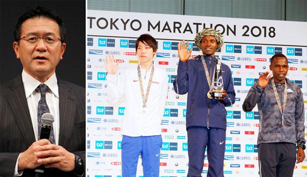 日本新でも「2位」(左は瀬古利彦マラソン強化戦略プロジェクトリーダー)/(C)日刊ゲンダイ