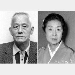 笠智衆(左)と田中絹代/(C)共同通信社