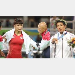 リオ五輪ではすでに師弟関係は破たん(右の田南部コーチはアテネで銅メダルを獲得)/(C)共同通信社