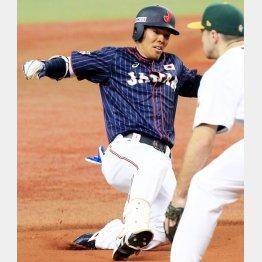 六回の左中間三塁打で猛打賞(C)日刊ゲンダイ