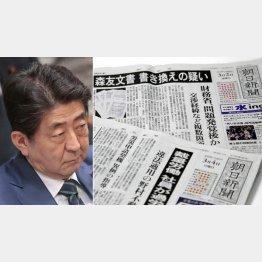 覚悟のスクープ(右)は本気の倒閣運動なのか/(C)日刊ゲンダイ