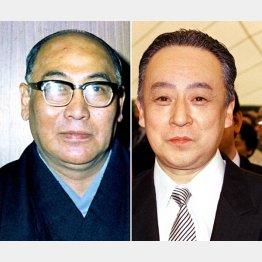 尾上松緑(左)と岩井半四郎/(C)共同通信社
