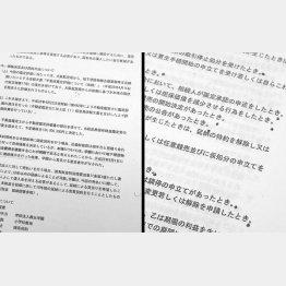 チェック印がない(C)日刊ゲンダイ