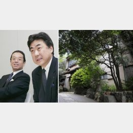 解任された和田前会長(左)と阿部現会長(右が63億円詐欺被害の土地)/(C)共同通信社