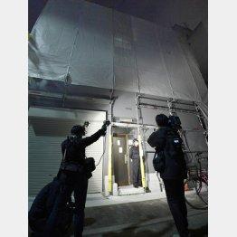 女性の遺体が見つかった大阪・西成の民泊施設(C)共同通信社
