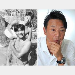 川崎憲次郎と自主トレのひとこま(C)共同通信社