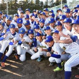 選抜高校野球大会への出場が決まったときの中央学院の選手たち