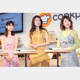 左から小倉優子、スザンヌ、舟山久美子(C)日刊ゲンダイ