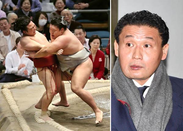 貴ノ岩(左)はせっかく勝ったのに師匠(JMPA)に見てもらえず…(C)共同通信社