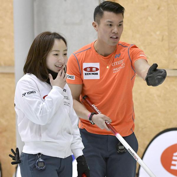 藤沢、山口ペアは4連勝で五輪代表の貫録(C)共同通信社