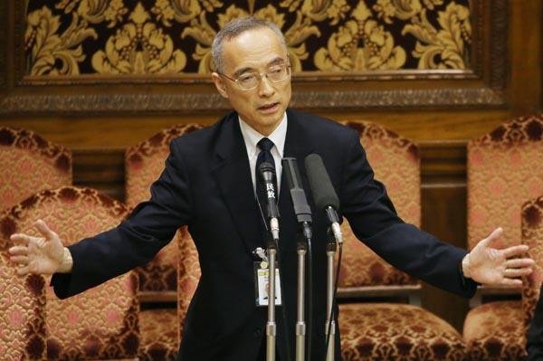 聞かれるまでは頬かむり(太田充理財局長)/(C)日刊ゲンダイ