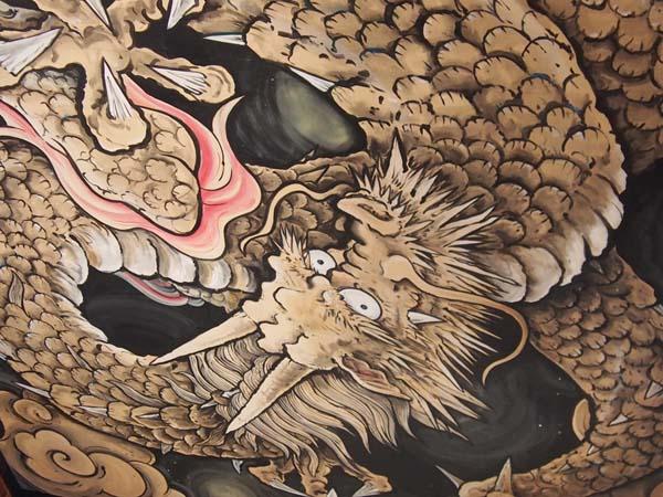 永福寺の天井画(C)日刊ゲンダイ