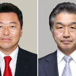 池田佳隆衆院議員(左)と赤池誠章参院議員