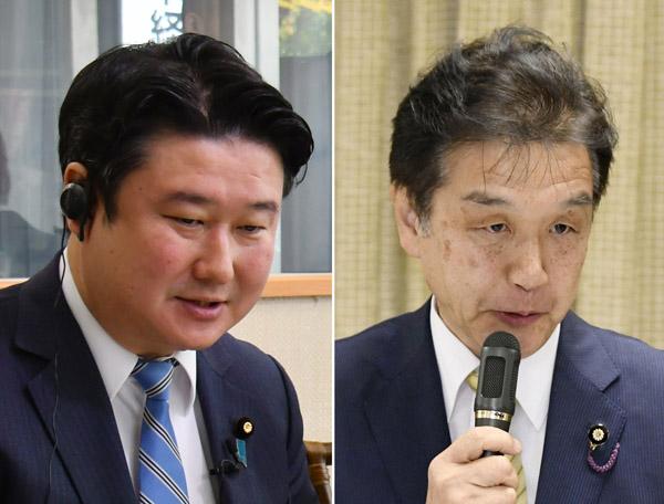 和田政宗議員(左)と赤池誠章議員/(C)共同通信社