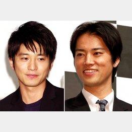 恋敵を演じた向井理(左)と桐谷健太(C)日刊ゲンダイ
